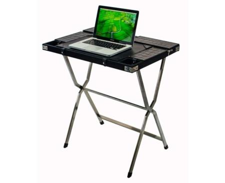 Safari computer desk - black croc and chrome