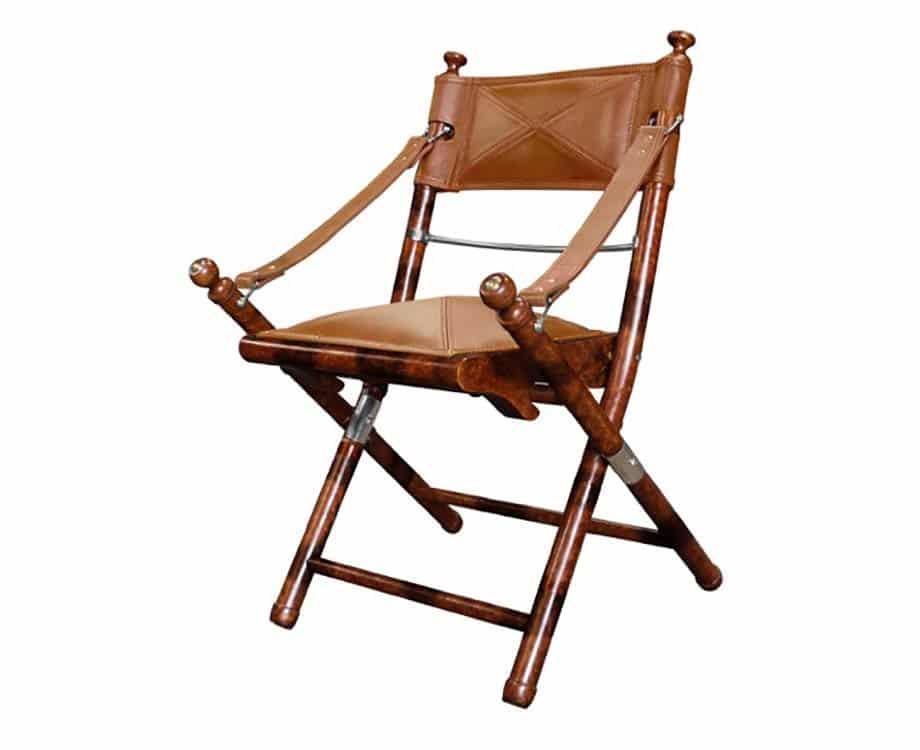 Safari Chair Newland Tarlton Co, Folding Leather Campaign Chair