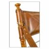 safari campaign chair detail of back