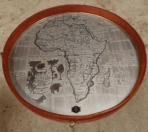 safari wine table top view