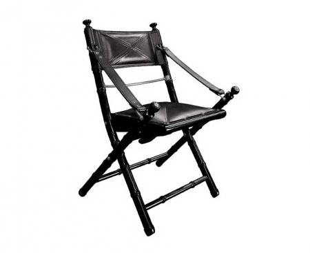 Safari folding chair black